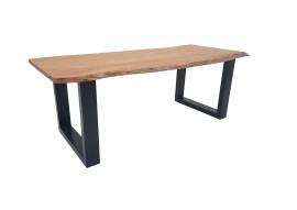 Table acacia massif et pieds U métal
