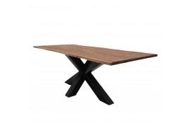 Table acacia massif et pieds étoile métal