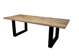 Table Chêne massif et pieds U métal