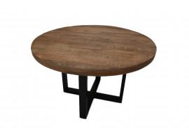 Table manguiermassif et pieds métal