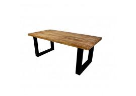Table manguier massif et pieds U métal