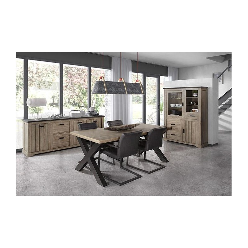 salle a manger style industriel la caverne d 39 alibaba. Black Bedroom Furniture Sets. Home Design Ideas