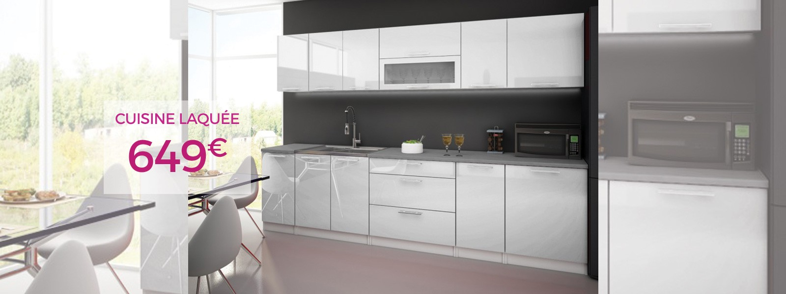 CUISINE LAQUEE HIGH GLOSS 3METRES